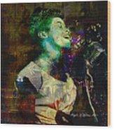 Tribute To Sarah Vaughn Wood Print