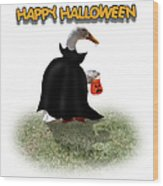 Trick Or Treat For Count Duckula Wood Print