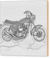 Trickley Triumph X75 Wood Print