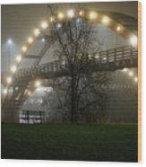 Tridge Fog Wood Print