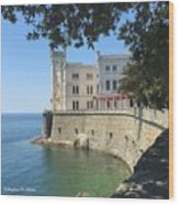 Trieste- Miramare Castle Wood Print