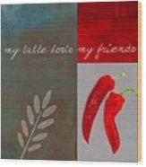 Trilioli Kitchen Decor - Red 153z Wood Print