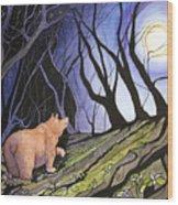 Trillium Moon Wood Print