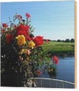 Trim Florals Wood Print