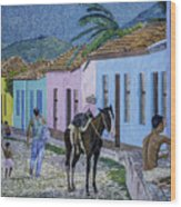 Trinidad Lifestyle 28x22in Oil On Canvas  Wood Print