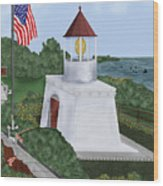 Trinidad Memorial Lighthouse Wood Print
