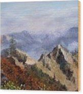 Trinity Alps Wood Print