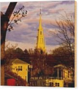 Trinity Church Spring Sunset Wood Print