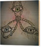 Trinity Eyes Wood Print