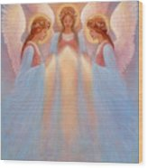 Trinity Of Angels Wood Print