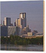 Trinity River Dallas 3 Wood Print