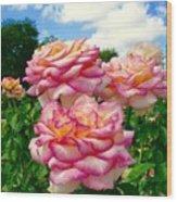 Trio Of Rose Wood Print