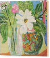 Trio Of Vases Wood Print