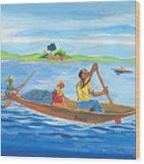 Trip To Lake Kivu In Congo Wood Print