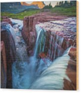 Triple Falls Cascades Wood Print