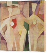 Triple Ladies Wood Print