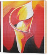 Triple Lily Paintings Wood Print