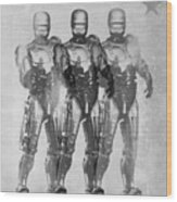 Triple Robocop Wood Print