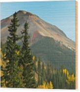 Triple Tree Peak Wood Print