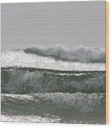 Triple Wave Action Wood Print