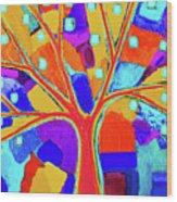 Trippy Tree Wood Print