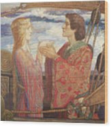 Tristian And Isolde Wood Print