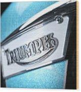 Triumph Badge Wood Print