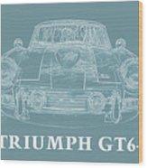 Triumph Gt6 Plus Wood Print