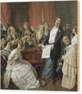 Triumph Of A Tenor At A Musical Matinee Wood Print