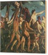 Triumph Of Bacchus 1514 Wood Print