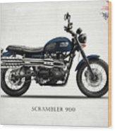 Triumph Scrambler 900 Wood Print