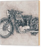 Triumph Speed Twin - 1937 - Vintage Motorcycle Poster - Automotive Art Wood Print