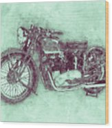 Triumph Speed Twin 3 - 1937 - Vintage Motorcycle Poster - Automotive Art Wood Print