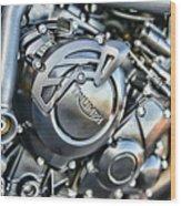 Triumph Tiger 800 Xc Engine Wood Print