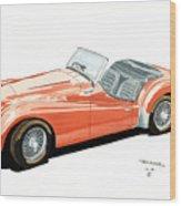 Triumph Tr2 Wood Print