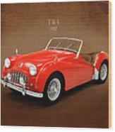 Triumph Tr3 1957 Wood Print