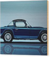 Triumph Tr5 1968 Painting Wood Print