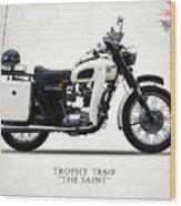 Triumph Tr6p - The Saint Wood Print