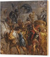 Triumphal Entry Of Henry Iv In Paris Wood Print