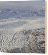 Triumvirate Glacier In Winter Light Wood Print