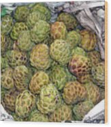 Troical Green Fruit 1 Wood Print