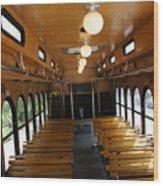 Trolley Interior Wood Print