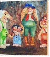 Trolls Wood Print