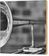 Trombone Wood Print