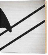 Trombone Silhouette Isolated Wood Print