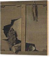 Trompe-l'oeil Wood Print