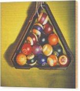 Billiard Balls Tromp'ole Wood Print