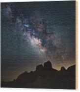 Trona Pinnacles Galactic Core Wood Print