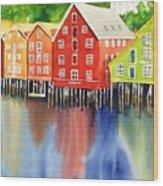 Trondheim Wood Print