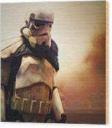 Trooper Landscape Wood Print